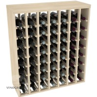 56 Bottle Premium Table Wine Rack - Pine Showcase