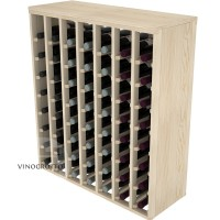 56 Bottle Premium Table Wine Rack - Pine Detail