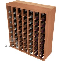 56 Bottle Premium Table Wine Rack - Redwood Detail