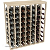 56 Bottle Table Wine Rack - Pine Showcase
