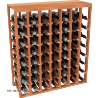 56 Bottle Table Wine Rack - Redwood Showcase