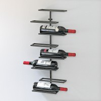 8 Bottle Iron Wall-Mounted Wine Rack