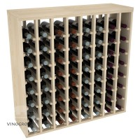 64 Bottle Premium Table Rack - Pine Showcase