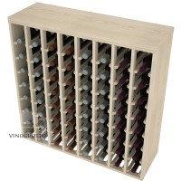 64 Bottle Premium Table Rack - Pine Detail