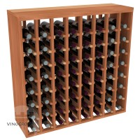 64 Bottle Premium Table Rack - Redwood Showcase