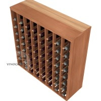 64 Bottle Premium Table Rack - Redwood Detail