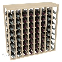 64 Bottle Table Wine Rack - Pine Showcase