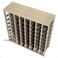 64 Bottle Table Wine Rack - Pine Detail