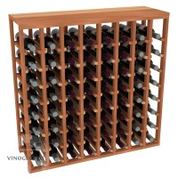 64 Bottle Table Wine Rack - Redwood Showcase