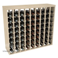 72 Bottle Premium Table Wine Rack - Pine Showcase