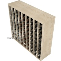 72 Bottle Premium Table Wine Rack - Pine Detail