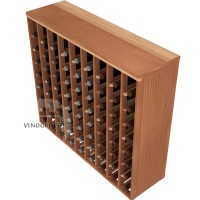 72 Bottle Premium Table Wine Rack - Redwood Detail