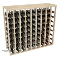 72 Bottle Table Wine Rack - Pine Showcase