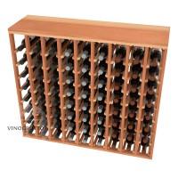 72 Bottle Table Wine Rack - Redwood Detail