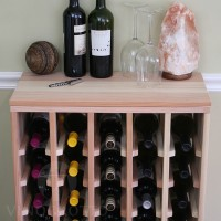 40 Bottle Table Top Wine Rack in Premium Redwood with Solid Sides