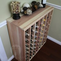 56 Bottle Table Top Wine Rack with Solid Sides in Premium Redwood Showcase