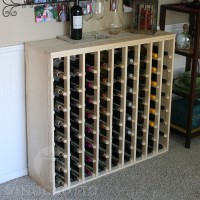 72 Bottle Table Top Wine Rack with Solid Sides