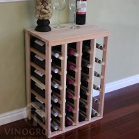 VINOGROTTO-TT-24-P, 24 Bottle Table Rack - Premium Redwood Showcase