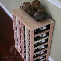VINOGROTTO-TT-24-P, 24 Bottle Table Rack - Premium Redwood