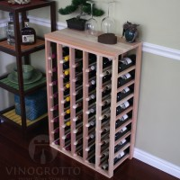 40 Bottle Table Top Wine Rack in Premium Redwood