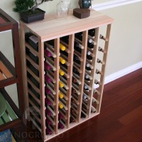 40 Bottle Table Top Wine Rack Redwood Showcase