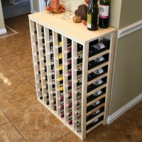 48 Bottle Table Top Rack with Fall Decor Pine Lifestyle