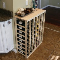 48 Bottle Table Top Wine Rack - Pine Lifestyle