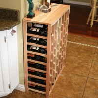 48 Bottle Table Top Wine Rack in Premium Redwood