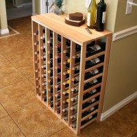 48 Bottle Table Top Wine Rack Premium Redwood Showcase
