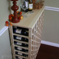 56 Bottle Premium Pine - Table Top Wine Rack