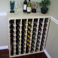 56 Bottle Table Pine Lifestyle - Table Top Wine Rack
