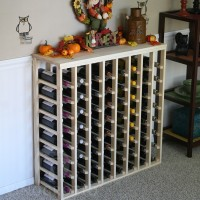 64 Bottle Table Top Wine Rack Pine Lifestyle Fall