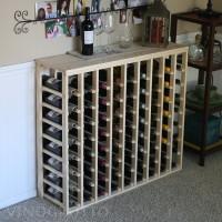 72 Bottle Table Top Wine Rack Pine