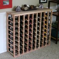 72 Bottle Table Top Wine Rack Redwood Showcase