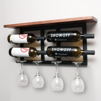 VintageView Vinolet Hanging Wine and Glass Rack