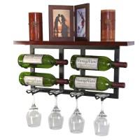 VintageView Vinolet Hanging Wine and Glass Rack