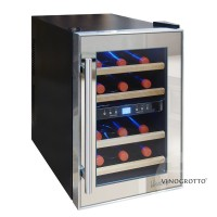 12 Bottle Dual-Zone Thermoelectric Mirrored Wine Cooler