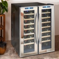 48 Bottle Dual-Zone Mirrored Wine Cooler