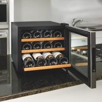 Wine Enthusiast Silent 12 Bottle Wine Refrigerator (Stainless Steel Trim Door) (Wood Shelves)