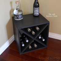 12 Bottle Wine Cube - Pine Espresso Finish