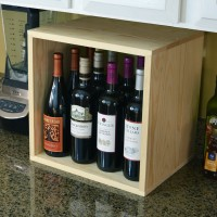 VINOGROTTO-WC-12C-P - 12 Bottle Wine and Liquor Cubby - Pine Lifestyle