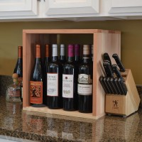 12 Bottle Wine Cubby - Redwood Showcase
