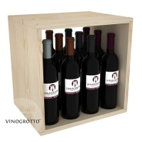 12 Bottle Wine / Liquor Cubby - Pine Showcase
