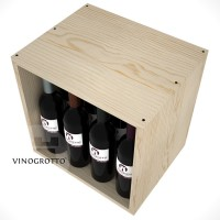 12 Bottle Wine / Liquor Cubby - Pine Detail