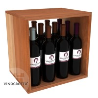 12 Bottle Wine / Liquor Cubby - Redwood Showcase
