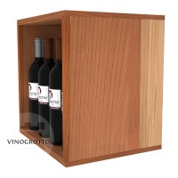 12 Bottle Wine / Liquor Cubby - Redwood Detail