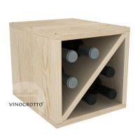 6 Bottle Wine Cube - Pine Showcase