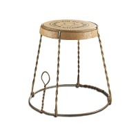 Champagne Cork Wire Cage Side Table