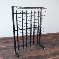 Vintage View 4 Foot - 117 Bottle Half Island Display Rack