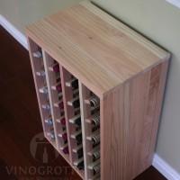 VINOGROTTO-DTT-24-R - 24 Bottle Table Rack in Redwood